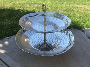 Metal tiered cake stand