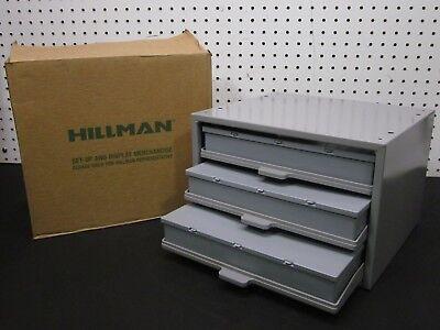 Hillman Hardware Parts Storage Cabinet 3 Drawer Steel Organizer With Drawer