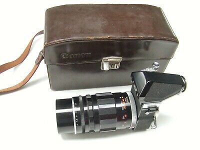 CANON RANGEFINDER MIRROR BOX 2 + f3.5 200mm CANON LENS M + OUTFIT CASE
