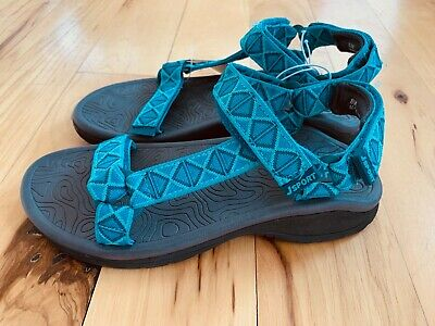 NEW J-SPORT By JAMBU Women's Navajo-Water Ready Teal Velcro Strap Sandals Sz 8  Velcro Strap Sandals