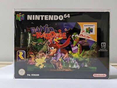 Banjo Kazooie - Nintendo 64 N64 PAL Boxed + Box Protector ~ VGC