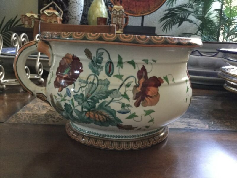 Antique Chamber Pot Poppy pattern SA & Co.