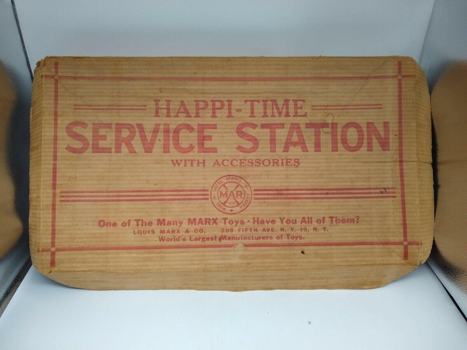 Vintage Marx Toys Happy Time Service Station - Box Only