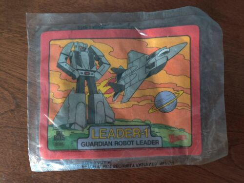 Vintage 1980s Go Bots Iron On Patch Leader-1 Guardian Robot Wendy
