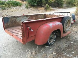 1950's international stepside box trailer
