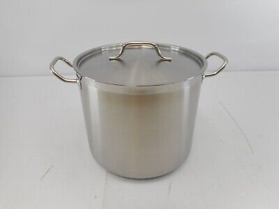 Update International SPS-20 - 20 Qt Stainless Steel Stock Pot w/Cover