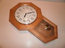 Seiko Brown Oak Schoolhouse Wall Clock - QXH102ZLH