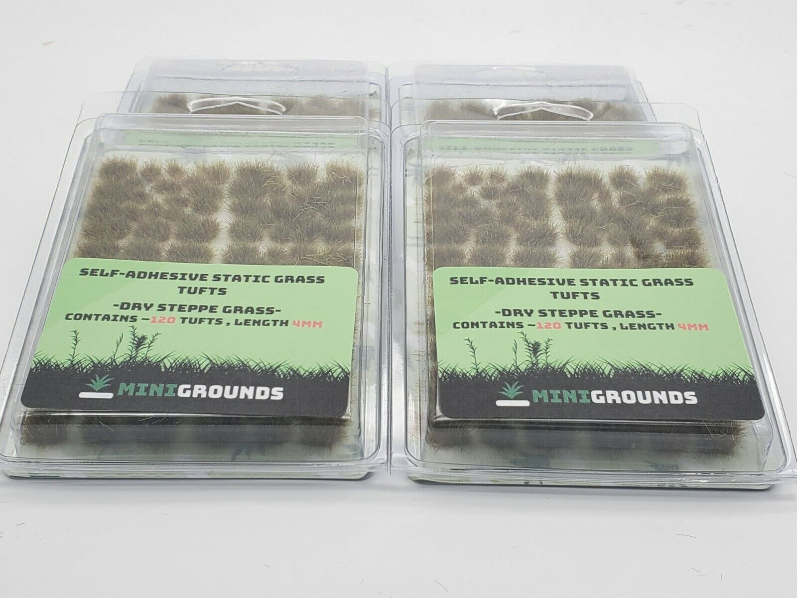 Self Adhesive Static Grass Tufts- Miniature Scenery/Terrain-Dry Steppe Grass  1