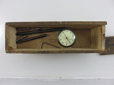 Brown Sharpe Model 740 Universal Dial Indicator Set .001 Made In Usa