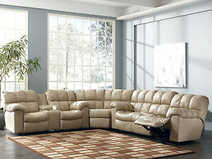 PRESTON-MODERN-BEIGE-GENUINE-LEATHER-RECLINER-SOFA-SECTIONAL-SET-LIVING-ROOM