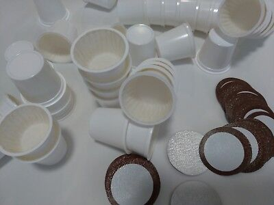 Paper Cup Cups - 50 K-cup Empty Cups with Sealed Paper Filter + Lids for Keurig 2.0 Single Serve