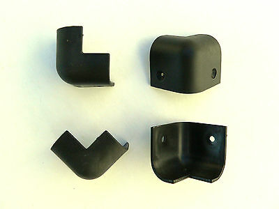 Set of sml Black Plastic Corner Protectors Loudspeaker PA Amplifier Cabinet Case