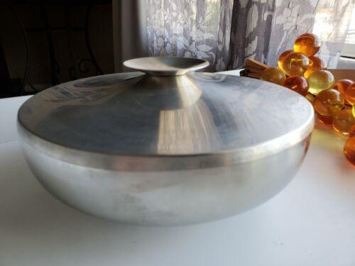 Vintage KALMAR DESIGNS Stainless Steel Covered Bowl #567 - MCM Lidded Dish