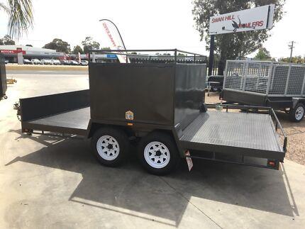 Custom heavy duty quad bike tandem trailer with removable bo 13x6'6