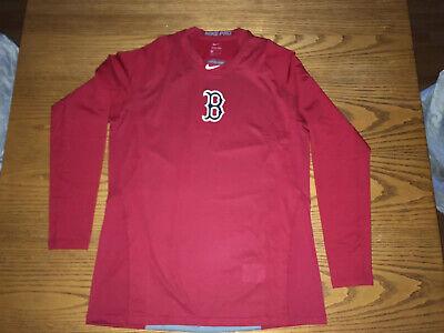 NIKE PRO BOSTON RED SOX MLB PERFORMANCE LONG SLEEVE SHIRT -