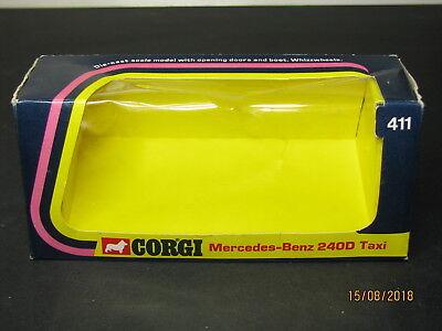 Corgi Toys 411, Mercedes-Benz 240D Taxi, Original Box Only / Boîte Origine Seule