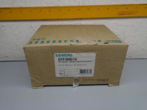 New old Stock EFF3M015  Siemens 15A Breaker EFF3M015   W23