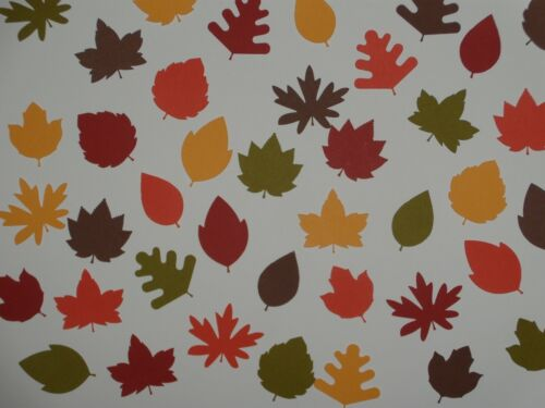 40 Autumn leaves (8 different design) scrapbooking diecuts greeting card diecut