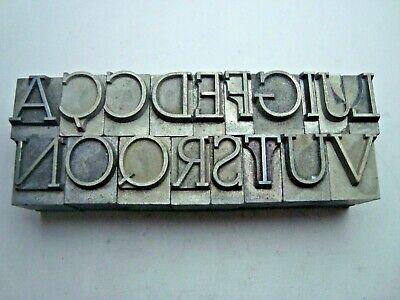 Vintage Lot Of Large Metal Letterpress Printing Blocks Type Letters 1