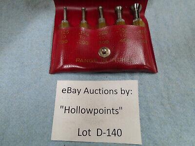 D140 Starrett 830-s Vintage Small Hole Gauge Gage Set 5pc. .125 -.500 S830fz