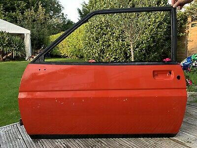 FORD FIESTA MK1 NS PASSENGER DOOR XR2 SUPERSPORT SUNBURST RED