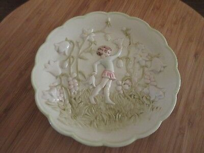 Used, ANDREA BY SADEK FAIRY FLORAL 3D DESIGN CERAMIC WALL HANGING PLATE J. WILLFRED for sale  Rio Rancho