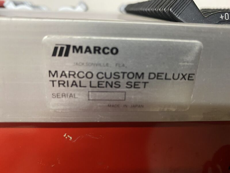 Marco Custom Deluxe Curve Trial Lens Set for Ophthalmology Optometry PLUS CYL