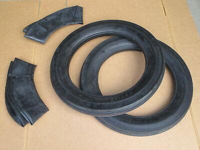 2 4.00-19 Front Tractor Tires Innertubes John Deere Case 4.00x19 400-19 3 Rib