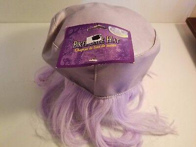 Lavender BIKER BABE WIG ~Headband~Masquerade Halloween - Biker Wig