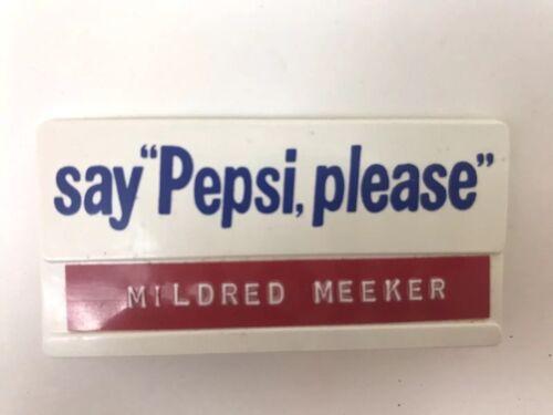 Vintage Pepsi Employee Name Badge Memorabilia Collectible Tag Advertising Soda