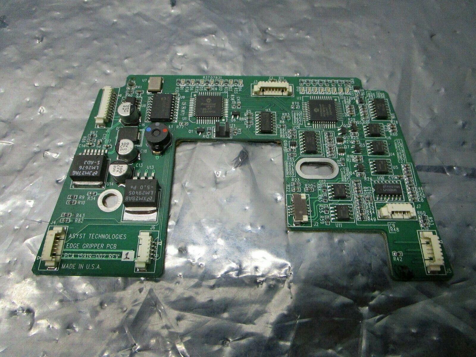 Asyst 15919-002 Edge Gripper PCB, FAB 15918-002, 101185