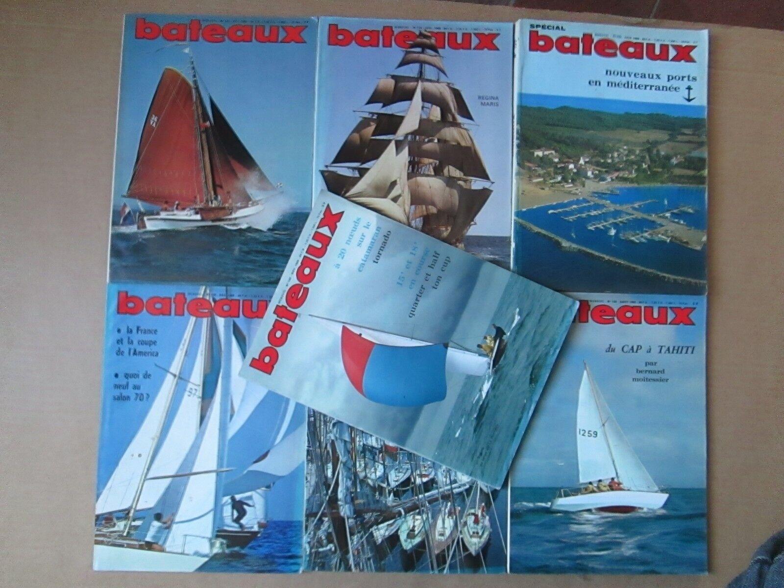 revue bateaux n°133 à 139 (7 numéros) de 1969.