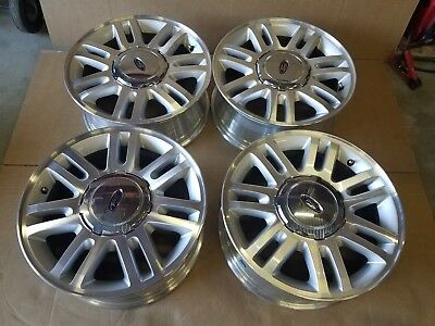 18 INCH 2009-2014 FORD F-150 OEM SILVER POCKETS ALLOY WHEEL RIM  SET  3784B