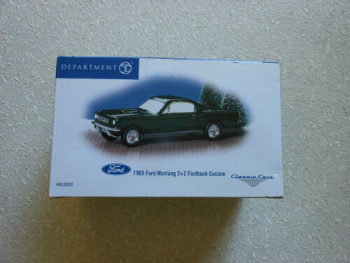 Department 56 Snow Village Classic Cars 1965 Ford Mustang 2+2 Fastback
