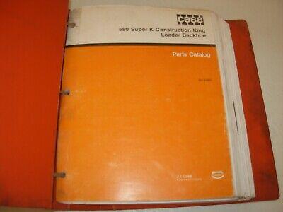 Case 580 Super K Construction King Loader Backhoe Parts Manual  8-6951