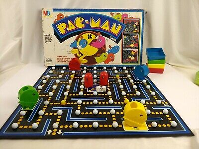 Vintage MB 1982 Milton Bradley PAC MAN Board Game - See description