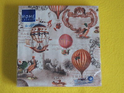 GE BALLONS 1 Packung OVP Motivservietten nostalgie schrift (Vintage-ballons)