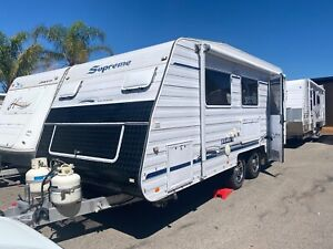 Supreme *SINGLE BEDS* SOLAR* BATTERY + CHARGER* REAR ENSUITE* AWNING* 19FT* LARGE STORAGE Broadview Port Adelaide Area Preview