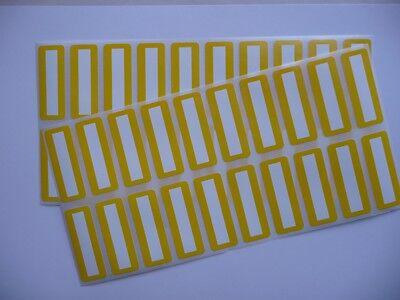 50 Siegel Sicherheitsetiketten Garantieverlust Polysafe 40 x 15 mm gelb/weiß