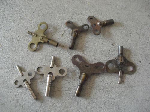 Lot of 7 Vintage Metal Clock Other Windup Keys