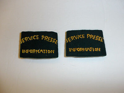 c0391p WW2 Indochina French Service Presse Information Shoulder Press pair R10E