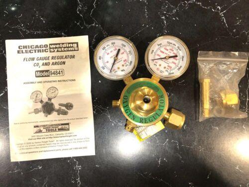 Chicago Electric Model 94841 Flow Meter Regulator Pressure Control Gauge