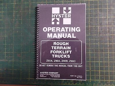 Genuine Hyster 599875 Rough Terrain Forklift Truck Operating Manual Z80 Z90 Nos