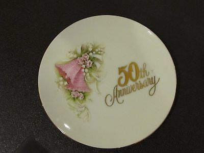Vintage Enesco Corporation 50th Anniversary Wishes Plate Japan 1988 (4.5