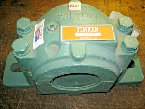 """Timken SAF 517 Split Pillow Block Housing for 2-15/16"""" Spherical Roller Bearing"""