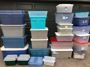 Assorted storage containers (26 in total)
