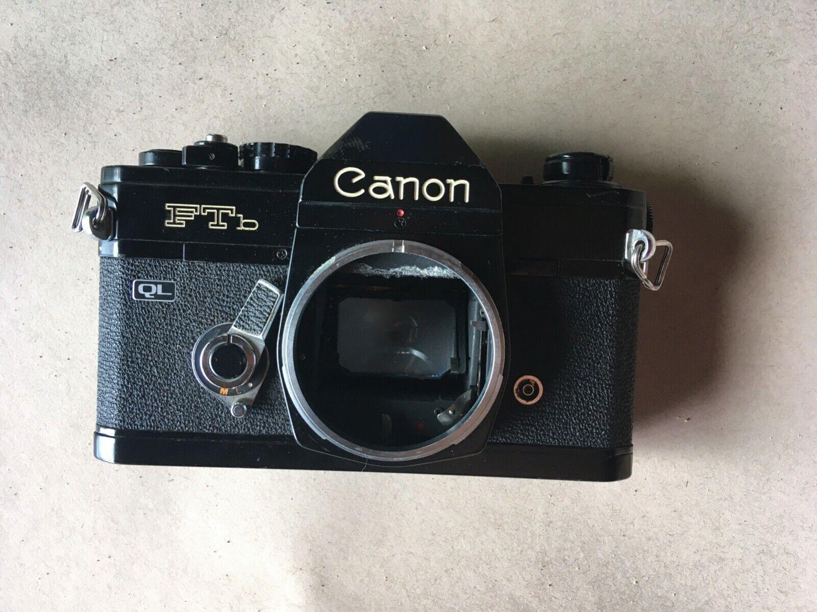 Canon FTb QL Black Film SLR Camera light Meter Doesnt Work  - $15.00