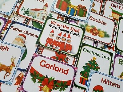 Elf on the shelf story telling cards christmas props childrens story writing toy ()