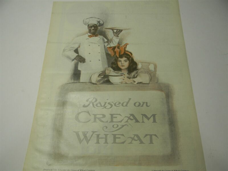 "Vintage 1918-1920 Cream of Wheat "" Raised On Cream Of Wheat "" Print Ad - 8E1"