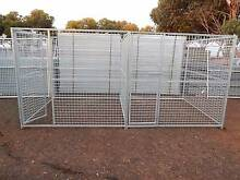 DOUBLE LARGE DOG CAGE PUPPY PLAY PEN METAL ENCLOSURE CAT Melton Melton Area Preview